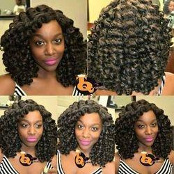 Knotless crochet braids