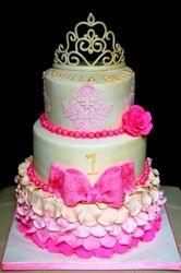 Vintage Princess themed birthday Cake