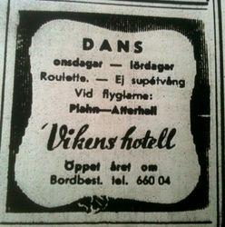 Vikens hotell 1970