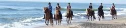 horseback riding along the beaches