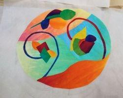 Students Zen Doodle art quilt