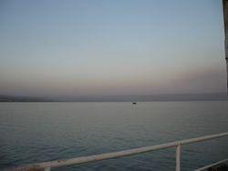 Serenidad en el mar de Galilea