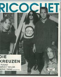 "Gone Away era interview/article - ""Ricochet"" 1989 Front Cover"