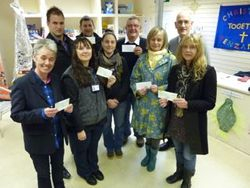 CTIPA - cheque distribution to local charities