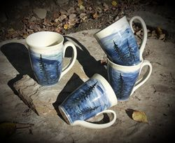 Blues Silhouette Mugs