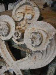 #16/098 Pair of Cast Iron Wall Anckers detail