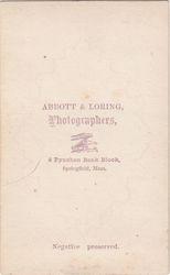 Abbott & Loring, photographers of Springfield, MA - back
