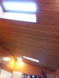 BEFORE - Master Bedroom Remodel (wood panel ceiling w/ skylights)