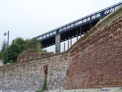 The bridge linking Teignmouth to the Park