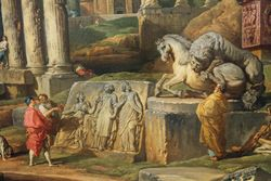 Panini, detail of Capricchio with a View of the Forum, 1741, Yale