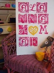 Girl's name print poster