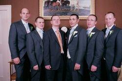 The groom's men .
