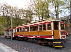 Tunnel Car No. 6 Arriving at Laxey