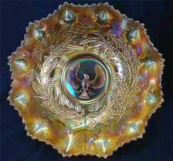 """Piping Shrike 9"""" master bowl,  marigold"""