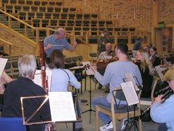 John rehearsing the Mowbray Orchestra