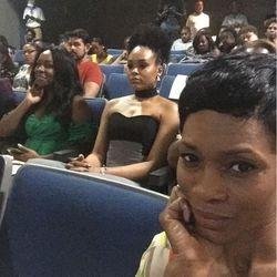 J Denelle, Demetria McKinney and Dedra Allen attends 'Bad Dad Rehab' Atlanta screening at Midtown Art Cinema Theatre