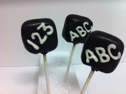 Teachers Week Chalk Board Cake Pops