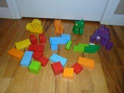 PBS Kids Wood Animal Blocks- 38 Piece - $15