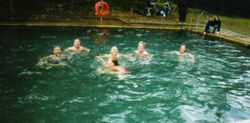 2002 enjoying the Hot Spa spring at the Caves