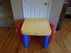 Little Tikes Large Table with 2 Chairs - $45