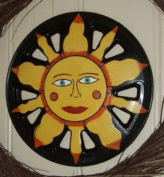 Sun Face Blue Eyes - $40