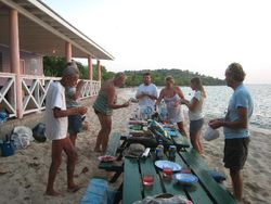 The beach barbeque