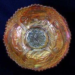 Lions deep round bowl, marigold