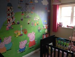 Childrens wall mural