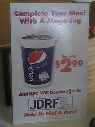 KFC Mega Jug $2.99 deal