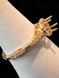 Unset ring, 14k gold and diamonds