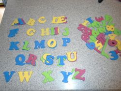 Foam Magnetic Letters & Numbers- Quantity 73 - $3