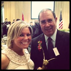 Dr. Gallin and I with the Lasker Award