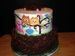 "Baby Shower ""Nest"" Cake"