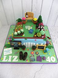 40th Birthday Gardening/Hobby Cake