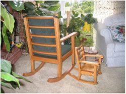 The first two rocking chairs