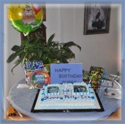 Zorro Cake set up