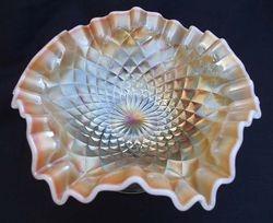 Folding Fan compote in peach opal