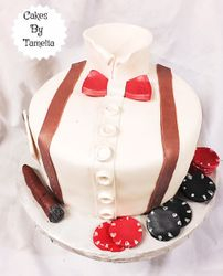 Shirt and Bowtie Cakes