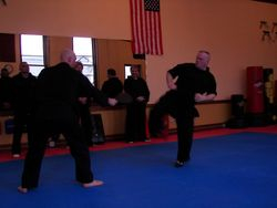 Endurance Kicking at Black Belt test