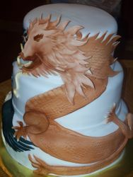 Dragon and Pheonix Wedding cake
