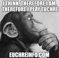 I think, therefore I am, therefore I play Euchre.