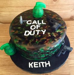 Call of Duty themed birthday cake