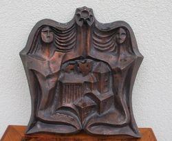 Kauno Dailes bareljefas, 1973 m. Kaina 36 Eur.