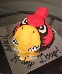 U of L Cardinal Cake