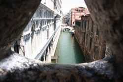 View from inside Bridge of Sighs (Dodge's Palace to prison)