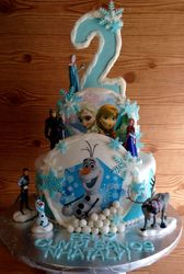Frozen theme with edible images