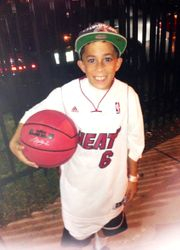 Alex flashing his Nike Lebron James Ball.