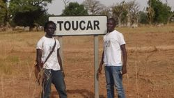Tamsier Joof and Demba Sene at Toucar (Tukar)