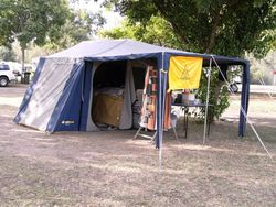 Tom's Campsite at the Moree Muster - 2009