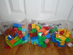 Lego Duplo- Sets of 45 Blocks to a Bag - $12